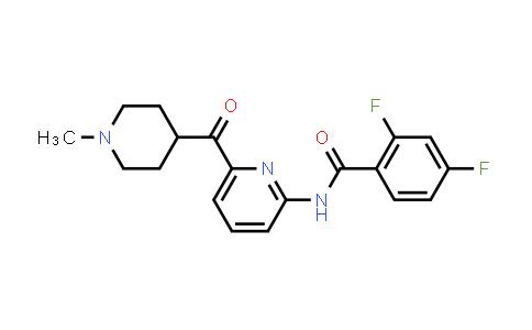 2,4-Difluoro-n-(6-(1-methylpiperidine-4-carbonyl)pyridin-2-yl)benzamide