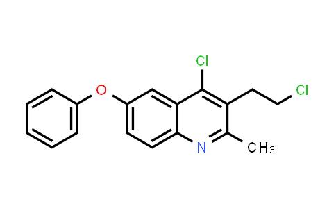 4-Chloro-3-(2-chloroethyl)-2-methyl-6-phenoxyquinoline