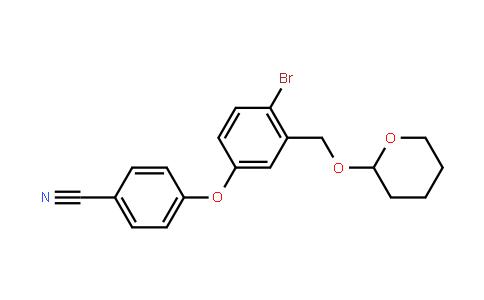 4-[4-Bromo-3-[[(tetrahydro-2H-pyran-2-yl)oxy]methyl]phenoxy]benzonitrile