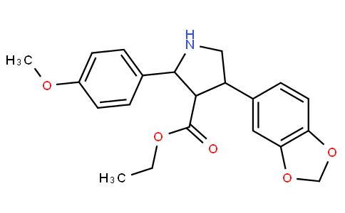 3-Pyrrolidinecarboxylic acid, 4-(1,3-benzodioxol-5-yl)-2-(4-Methoxyphenyl)-, ethyl ester, (2α,3β,4α)-