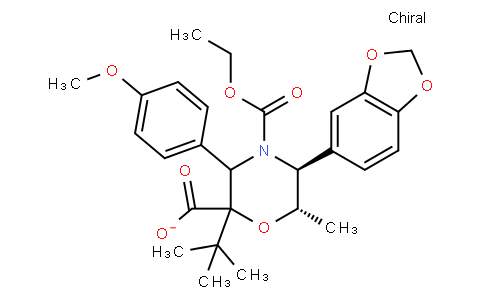 (4R,5S,6S)-2-tert-butyl 4-ethyl 5-(benzo[d][1,3]dioxol-5-yl)-3-(4-methoxyphenyl)-6-methylmorpholine-2,4-dicarboxylate