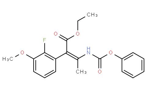 (Z)-ethyl 2-(2-fluoro-3-methoxyphenyl)-3-(phenoxycarbonylamino)but-2-enoate