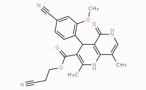 2-cyanoethyl 4-(4-cyano-2-methoxyphenyl)-2,8-dimethyl-5-oxo-1,4,5,6-tetrahydro-1,6-naphthyridine-3-carboxylate