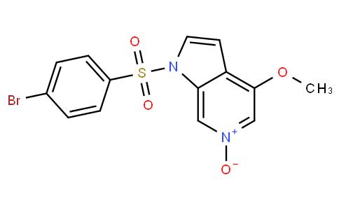 1-(4-bromophenylsulfonyl)-4-methoxy-1H-pyrrolo[2,3-c]pyridine 6-oxide