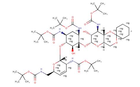 Spiro[cyclohexane-1,2'-pyrano[3,2-d][1,3]dioxin], D-streptamine deriv
