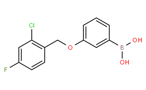 [3-[(2-chloro-4-fluorophenyl)methoxy]phenyl]boronic acid