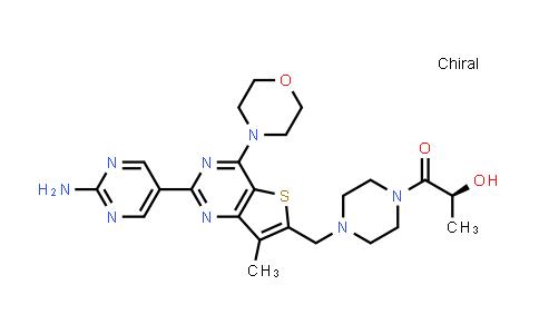 (S)-1-(4-((2-(2-Aminopyrimidin-5-yl)-7-methyl-4-morpholinothieno[3,2-d]pyrimidin-6-yl)methyl)piperazin-1-yl)-2-hydroxypropan-1-one