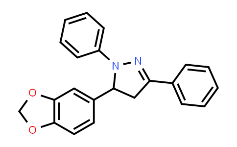 5-(1,3-Benzodioxol-5-yl)-4,5-dihydro-1,3-diphenylpyrazole