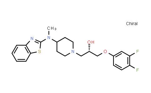 (2S)-1-[4-(1,3-Benzothiazol-2-Yl-Methylamino)Piperidin-1-Yl]-3-(3,4-Difluorophenoxy)Propan-2-Ol