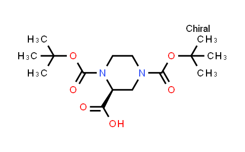 (S)-1,4-Bis(tert-butoxycarbonyl)piperazine-2-carboxylic acid