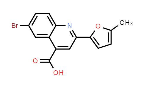 6-Bromo-2-(5-methyl-2-furyl)quinoline-4-carboxylic acid