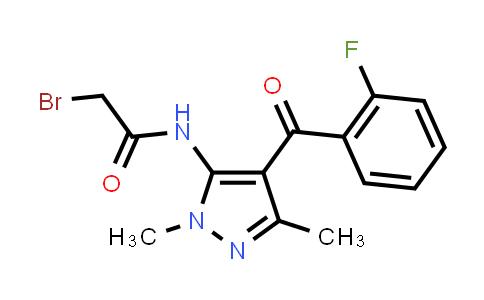 2-Bromo-N-[4-(2-fluorobenzoyl)-1,3-dimethyl-1H-pyrazol-5-yl]-acetamide