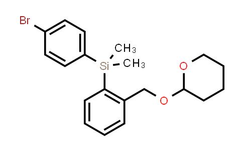 (4-Bromo-phenyl)-dImethyl-[2-(tetrahydro-pyran-2-yloxymethyl)-phenyl]-sIlane