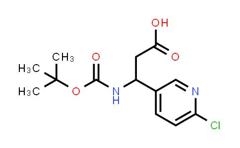3-((tert-Butoxycarbonyl)amino)-3-(6-chloropyridin-3-yl)propanoic acid