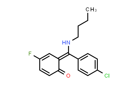 (6E)-6-[Butylamino-(4-Chlorophenyl)Methylidene]-4-Fluoro-Cyclohexa-2,4-Dien-1-One