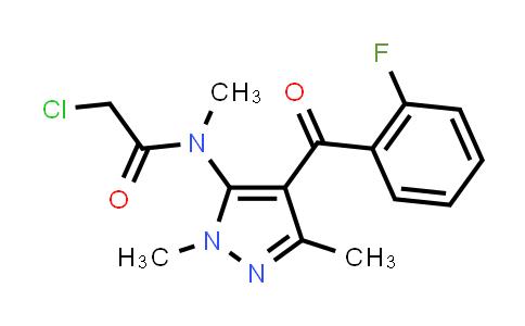 2-Chloro-N-[4-(2-Fluorobenzoyl)-1,3-Dimethyl-1H-Pyrazol-5-Yl]-N-Methylacetamide