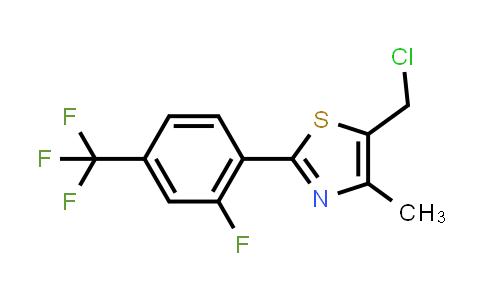 5-(Chloromethyl)-2-[2-fluoro-4-(trifluoromethyl)phenyl]-4-methyl-1,3-thiazole