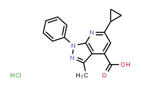 6-Cyclopropyl-3-methyl-1-phenyl-1H-pyrazolo[3,4-b]pyridine-4-carboxylic acid hydrochloride