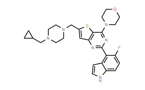 6-[[4-(Cyclopropylmethyl)-1-piperazinyl]methyl]-2-(5-fluoro-1H-indol-4-yl)-4-(4-morpholinyl)-thieno[3,2-d]pyrimidine