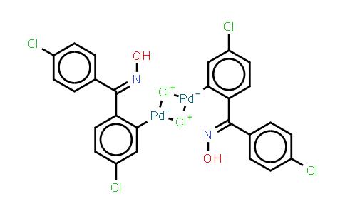二-μ-氯双[5-氯-2-[(4-氯苯基)(肟基)甲基]苯基]钯(II)二聚体
