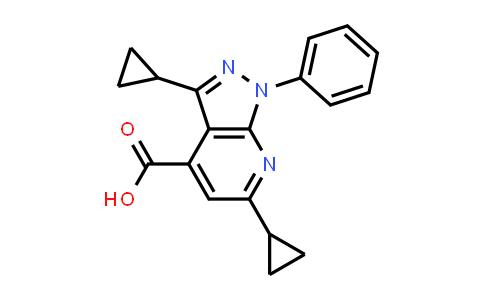3,6-Dicyclopropyl-1-phenyl-1H-pyrazolo[3,4-b]pyridine-4-carboxylic acid