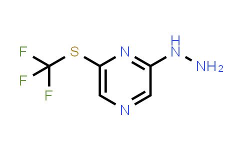 (6-Trifluoromethylsulfanyl-pyrazin-2-yl)-hydrazine