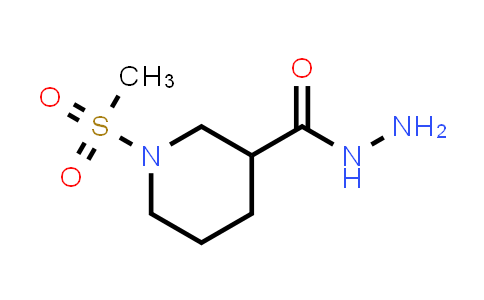 1-methylsulfonylpiperidine-3-carbohydrazide