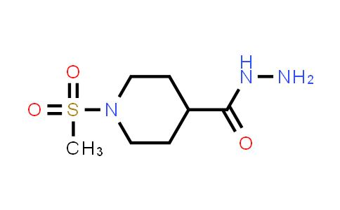 1-methylsulfonylpiperidine-4-carbohydrazide