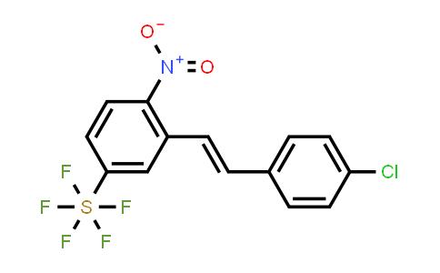 1-Nitro-2-[2-(4-chlorophenyl)vinyl]-4-(pentafluorosulfanyl)benzene