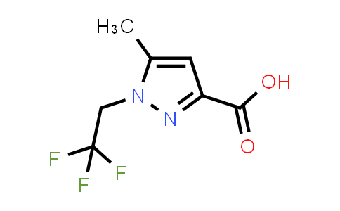 5-Methyl-1-(2,2,2-trifluoroethyl)pyrazole-3-carboxylic acid