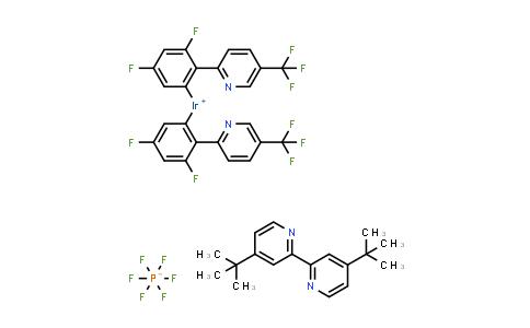 Bis[3,5-Difluoro-2-[5-(trifluoromethyl)-2-pyridyl]phenyl]iridium(1+); 4-tert-butyl-2-(4-tert-butyl-2-pyridyl)pyridine; hexafluorophosphate
