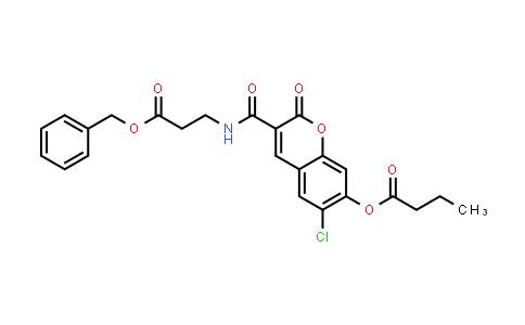 Butyric acid 3-(2-benzyloxycarbonyl-ethylcarbamoyl)-6-chloro-2-oxo-2H-chromen-7-yl ester
