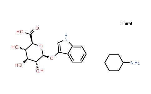 Cyclohexanamine; (2S,3S,4S,5R,6S)-3,4,5-trihydroxy-6-(1H-indol-3-yloxy)tetrahydropyran-2-carboxylic acid