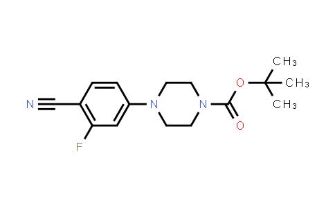 tert-Butyl 4-(4-cyano-3-fluoro-phenyl)piperazine-1-carboxylate