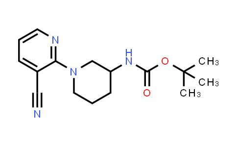 tert-butyl N-[1-(3-cyano-2-pyridyl)-3-piperidyl]carbamate