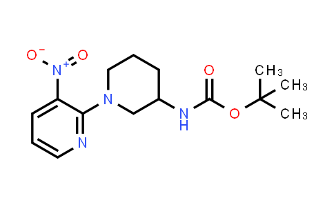tert-butyl N-[1-(3-nitro-2-pyridyl)-3-piperidyl]carbamate