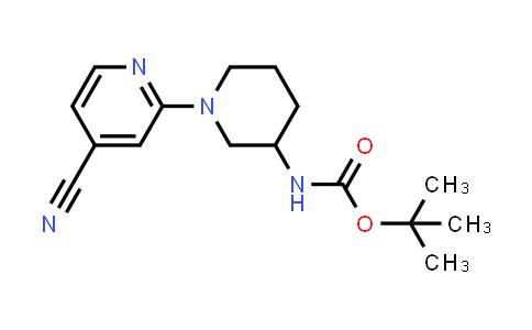tert-butyl N-[1-(4-cyano-2-pyridyl)-3-piperidyl]carbamate