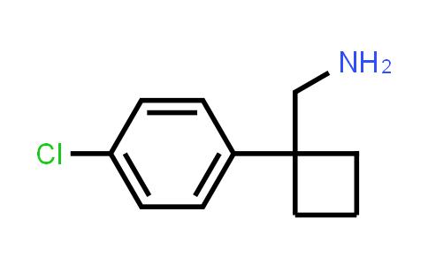 [1-(4-Chlorophenyl)cyclobutyl]methanamine