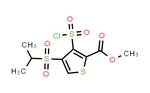 methyl 3-chlorosulfonyl-4-isopropylsulfonyl-thiophene-2-carboxylate
