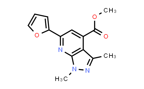 methyl 6-(2-furyl)-1,3-dimethyl-pyrazolo[3,4-b]pyridine-4-carboxylate