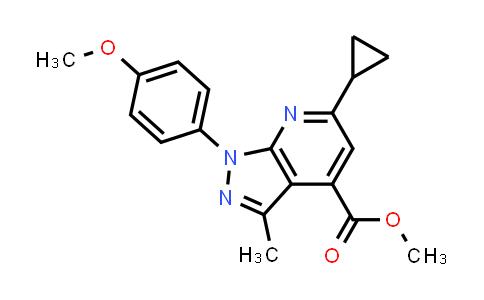 methyl 6-cyclopropyl-1-(4-methoxyphenyl)-3-methyl-pyrazolo[3,4-b]pyridine-4-carboxylate