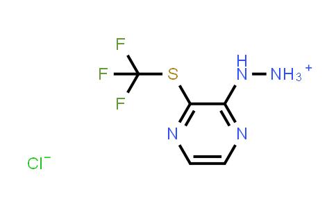 N'-(3-Trifluoromethylsulfanyl-pyrazin-2-yl)-hydrazinium chloride