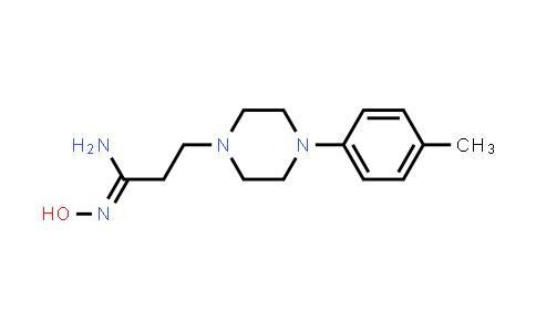 N'-Hydroxy-3-[4-(p-tolyl)piperazin-1-yl]propanamidine