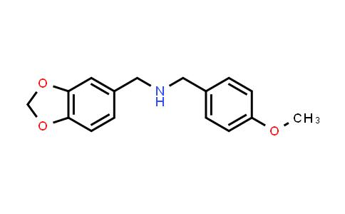 N-(1,3-benzodioxol-5-ylmethyl)-1-(4-methoxyphenyl)methanamine