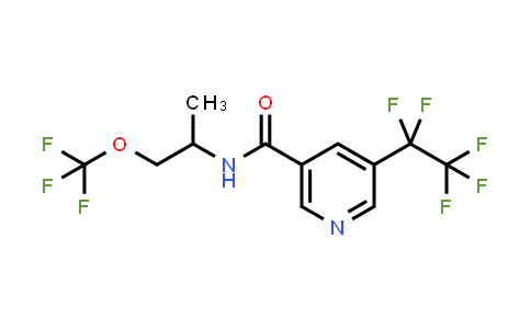 N-(1-Methyl-2-trifluoromethoxy-ethyl)-5-pentafluoroethyl-nicotinamide