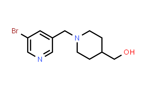 [1-[(5-bromo-3-pyridyl)methyl]-4-piperidyl]methanol
