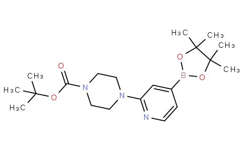 tert-butyl 4-(4-(4,4,5,5-tetramethyl-1,3,2-dioxaborolan-2-yl)pyridin-2-yl)piperazine-1-carboxylate