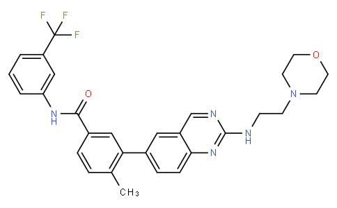 4-methyl-3-(2-((2-morpholinoethyl)amino)quinazolin-6-yl)-N-(3-(trifluoromethyl)phenyl)benzamide