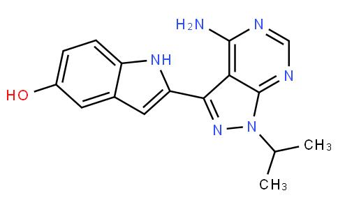 2-(4-amino-1-isopropyl-1H-pyrazolo[3,4-d]pyrimidin-3-yl)-1H-indol-5-ol