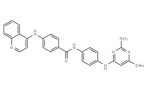 N-(4-((2-amino-6-methylpyrimidin-4-yl)amino)phenyl)-4-(quinolin-4-ylamino)benzamide